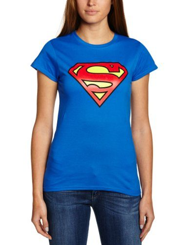 Collectors-Mine-Camiseta-de-Superman-con-cuello-redondo-de-manga-corta-para-mujer-0