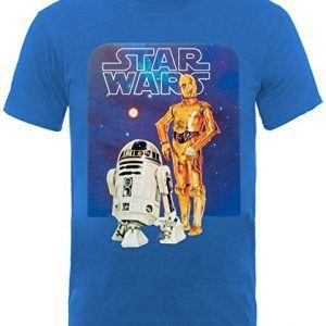 Camiseta Infantil Star Wars R2D2 y C3PO