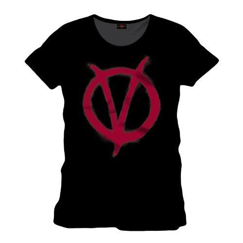 V-de-Vendetta-camiseta-con-el-smbolo-V-pelcula-basada-en-el-cmic-estampado-frontal-grande-negra-0