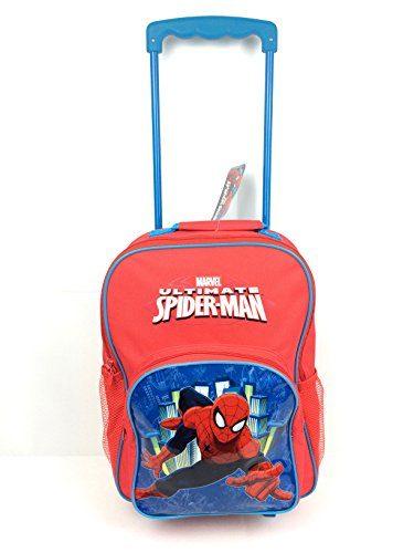 Spiderman-Equipaje-infantil-Rojo-rojo-0