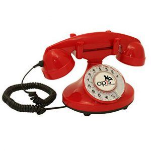 telefono vintage rojo