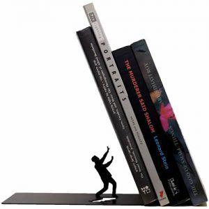 Sujetalibros libros cayendo falling bookend