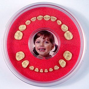Cajita dientes de leche tipo expositor color rojo