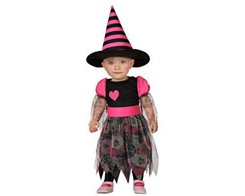 Atosa-22725-bruja-chica-beb-tamao-12-24-meses-negro-rosa-0