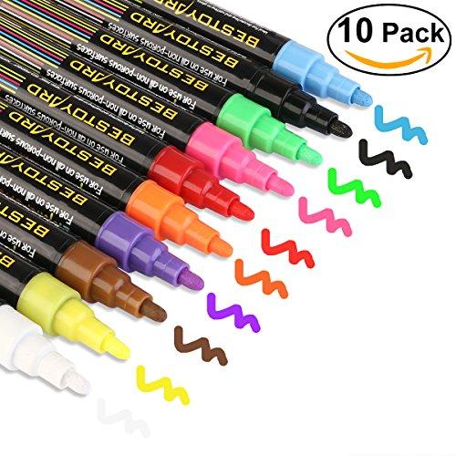 BESTOYARD-Rotuladores-de-Tiza-Lquida-10-Colores-Vibrantes-de-Nen-con-Puntas-Reversibles-80-Etiquetas-de-Pizarra-Gratis-Fcil-de-Limpiar-Perfecto-Para-Pizarras-Restaurantes-Ventanas-Cristal-Etiquetas-0