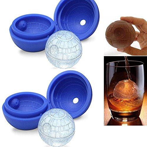 GerMax-ToysTM2-pack-Paquete-de-silicona-de-hielo-del-molde-bandeja-del-cubo-de-la-bola-de-la-bandeja-para-hornear-Whiskey-Jabn-de-chocolate-para-los-amantes-de-Star-Wars-o-El-tema-del-partido-0