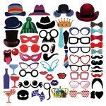 accesorios para photocall - con gafas, sombreros, bigotes y mucho más