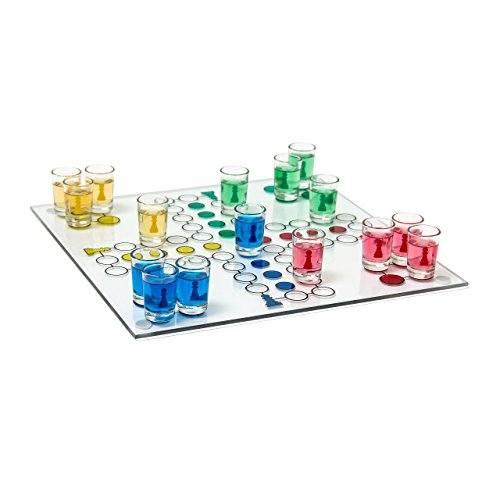 Relaxdays-Juego-para-beber-Parchs-de-cristal-con-vasos-de-chupito-31-x-31-cm-Chupito-0