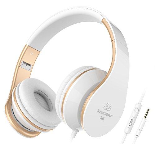 Sound-Intone-I65-Auriculares-de-la-msica-del-receptor-de-cabeza-auriculares-grandes-cancelacin-de-ruido-control-en-linea-del-volumen-del-micrfono-para-dispositivos-iPhone-y-Android-blanco-y-oro-0