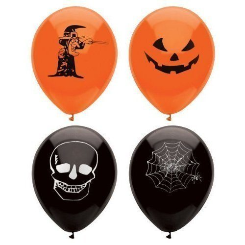 15-Assorted-Halloween-Balloons-23cm-Halloween-Trick-Or-Treat-Scary-Party-Fun-by-Henbrandt-0