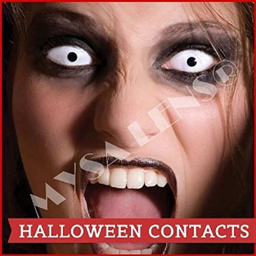 Bon-Fire-Night-Scary-ClownZombie-Halloween-1-Day-Use-White-out-Contact-Lenses-Be-Seen-This-Halloween-accesorio-de-disfraz-0