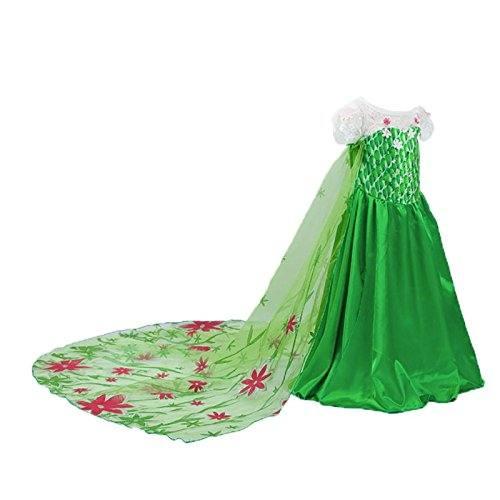 Disfraz-de-la-Princesa-ELSA-ANNA-de-Frozen-Vestido-Nia-Talla-140-7-8-aos-0-1