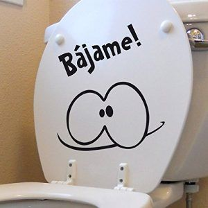 sticker para wc Bájame!