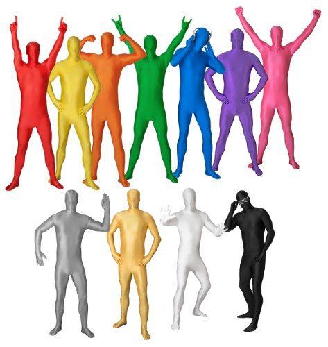 Original-FUNSUIT-Disfraz-de-segunda-piel-pegado-al-cuerpo-Carnaval-Halloween-Azul-Talla-S-M-L-XL-XXL-L-Varios-Colores-0