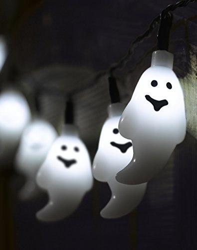 Smart-Solar-de-Halloween-Ghost-Cadena-de-luces-10-LED-blanco-de-0
