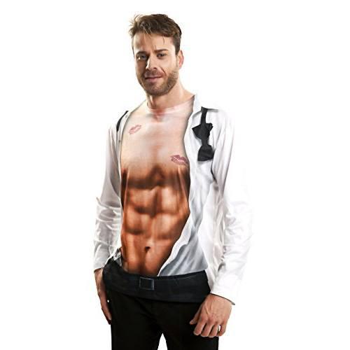 Camiseta impresión hiperrealista abdominales