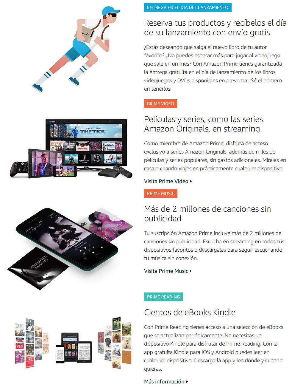 Ventajas de suscribirse a Amazon Prime