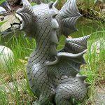 Figura de dragón para jardín vista lateral