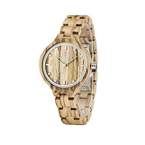 GREENTREEN-Reloj-de-pulsera-de-madera-para-las-mujeres-de-Color-marrn-0