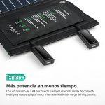 Cargador solar plegable detalle conectores