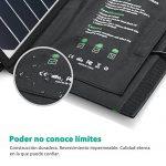 Cargador solar plegable resistente al agua