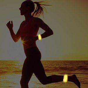 Brazaletes LED reflectantes para hacer deporte ejemplo de uso