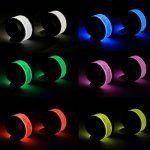 Brazaletes LED reflectantes para hacer deporte en la oscuridad