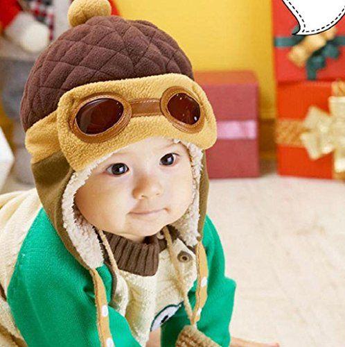Koly-Invierno-Caliente-Beanie-Hat-Aviador-Earflap-sombreros-del-beb-Caf-0-0