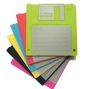 set 6 Posavasos disquete 3,5 pulgadas