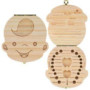 Caja de madera para dientes de leche - Niño