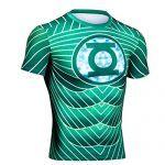 camiseta elástica green lantern