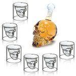HOMFA-Set-de-6-vaso-de-cristal-Vaso-cerveza-Vino-350ML-Botella-de-vino-Botella-Crneo-Aireador-de-Vino-75ML-Vidrio-0