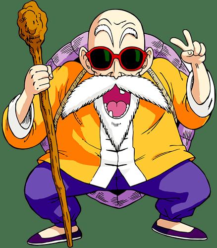 El genio tortuga, maestro de artes marciales de Goku y Krilin en la saga Dragon Ball