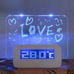 Despertador con pizarra para mensajes con función temperatura, alarma, temporizador...