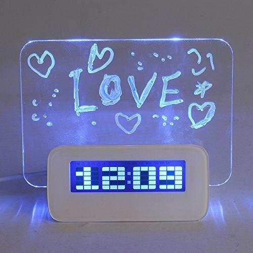 Baban-despertadorLuz-suave-inteligente-lnea-de-reloj-pluma-USB-pizarra-Mensaje-despertador-digital-despertador-fluorescente-azul-calendario-0