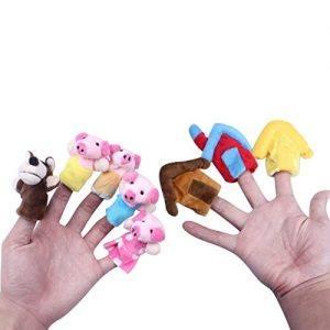 Marionetas de dedo - Los tres cerditos
