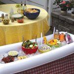 Bandeja - nevera gigante hinchable - Mantiene frescas tus ensaladas o bebidas