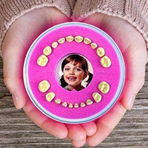 Caja para guardar dientes de leche rosa