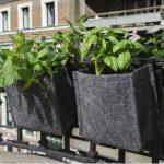 Saco alforja para huerto urbano o jardín
