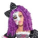 Disfraz de muñeca de porcelana rota para niña - Detalle de la máscara