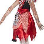 Disfraz de Caperucita Roja zombie para niñas. Vista lateral