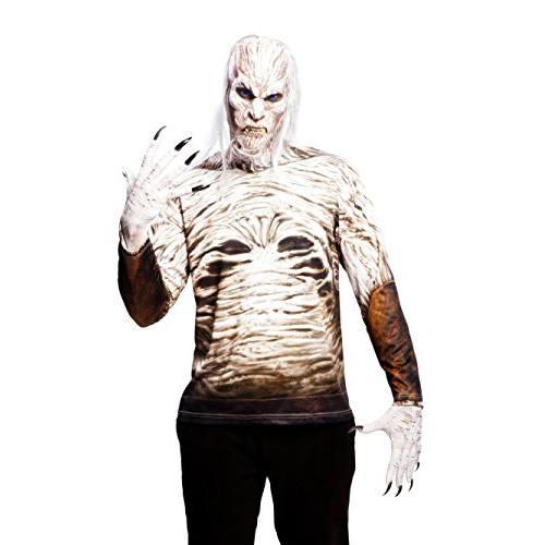 Yiija-Fast-Fun-Disfraz-camiseta-caminante-blanco-para-adultos