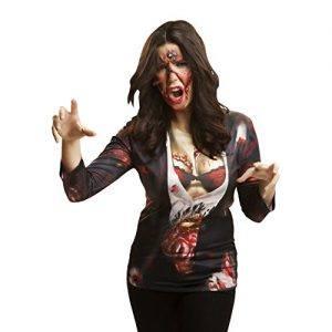 Camiseta manga larga de chica zombie