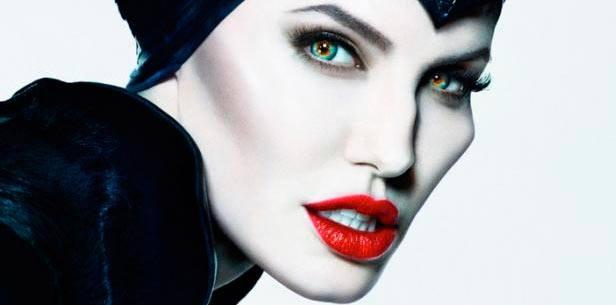 Disfraz de Maléfica. Detalle del maquillaje de Angelina Jolie en la película