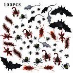 100-piezas-de-plstico-realista-errores-falsa-cucarachas-araas-escorpiones-hormigas-Geckoes-ciempis-ratones-moscas-murcilagos-para-Halloween-Fiesta-y-Decoracin-0
