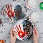 Vajilla, servilletas y mantel sangrientos para fiestas de Halloween