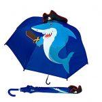 Paraguas-para-nios-HECKBO-con-tiburn-con-sombrero-pirata-y-espada-dientes-isla-del-tesoro-y-barco-pirata-Paraguas-nios-y-nias-Para-nios-en-edad-escolar-y-para-el-jardn-de-infancia-0